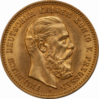 Gold Preussen 10 Mark Friedrich III