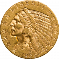 USA 5 $ Indian Head