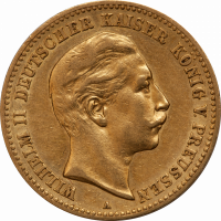 Gold Preussen 10 Mark Wilhelm II